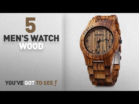 Top 10 Men's Watch Wood [2018]: Bewell W086B Mens Wooden Watch Analog Quartz Lightweight Handmade