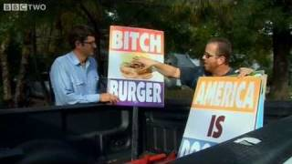 Louis Theroux at Westboro Baptist Church protest - America's Most Hated Family in Crisis - BBC Two