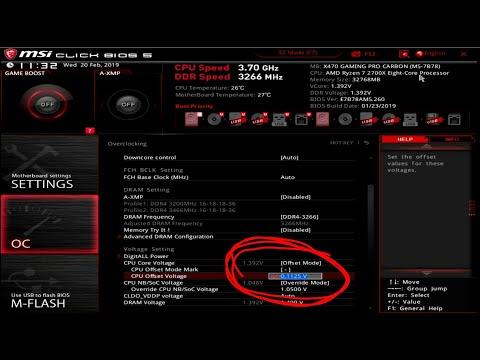 MSI added offset voltage to their AM4 BIOS so here's how to use it