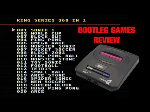 Bootleg Sega Mega Drive built-in games review