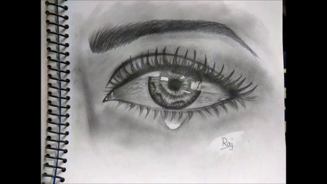 Eyes Drawing Crying