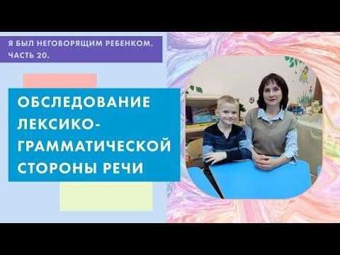 Обследование лексико-грамматической стороны речи ребёнка 5 лет
