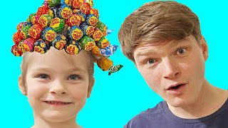 Hairstyle Chupa Chups Lollipops KybiBybi Colorsتسريحة جميلة للشعر