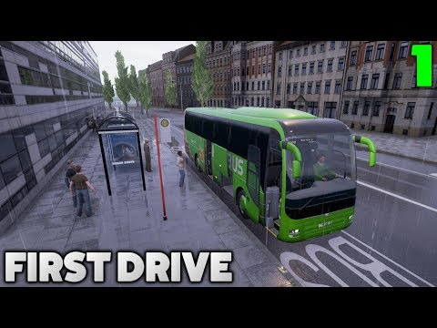 Fernbus Coach Simulator Let's Play - First Drive - #1