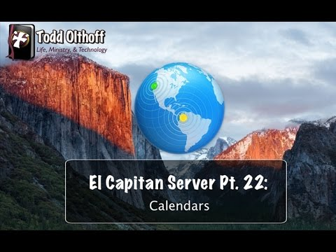 El Capitan Server Part 22: Calendars