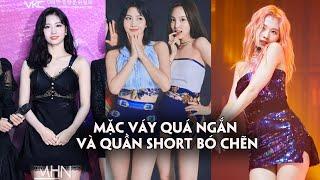 TWICE liên tục được stylist cho mặc váy quá ngắn và quần short bó chẽn
