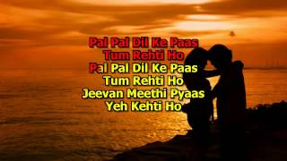 Pal Pal Dil Ke paas karaoke Song With Lyrics