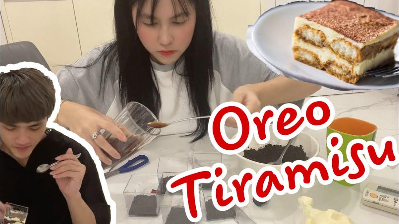 [Vlog] Cô Ngân Lần Đầu Làm Thử Bánh Oreo Tiramisu Đang Hot Và Cái Kết