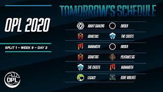 OPL 2020 Split 1 Week 9 Day 1