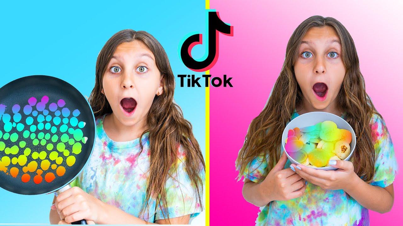Exponiendo HACKS FALSOS de comida de TikTok - Mimi Land