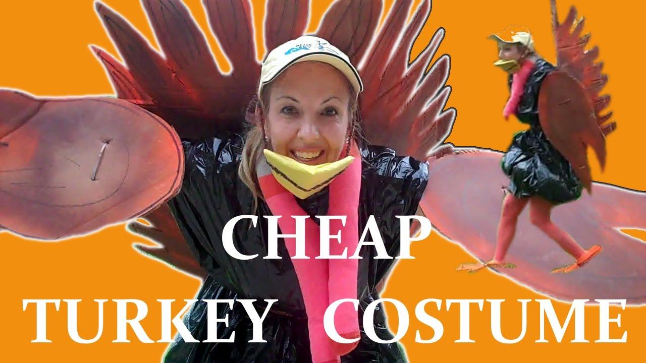 YouTube Premium  sc 1 st  YouTube & Cheap Homemade Turkey Costume - YouTube