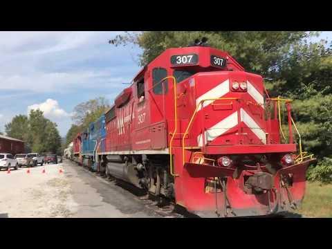 Vermont Railway Freight Glides Thru Chester Depot