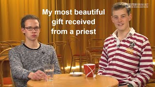 What is the most beautiful thing you experienced from a priest? (Studenten)