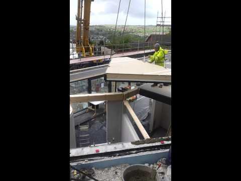 Baufritz timber frame eco house construction, Lewes, UK