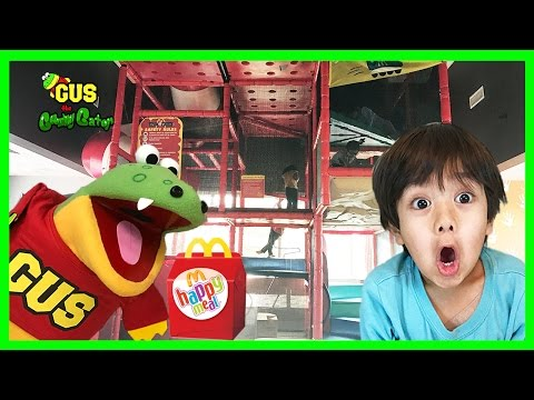 McDonald's Indoor Playground Playtime with Ryan ToysReview