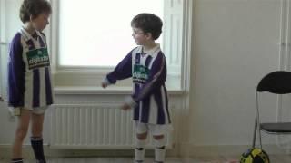 Marvin en Manuel oefenen FC-Wanhoop