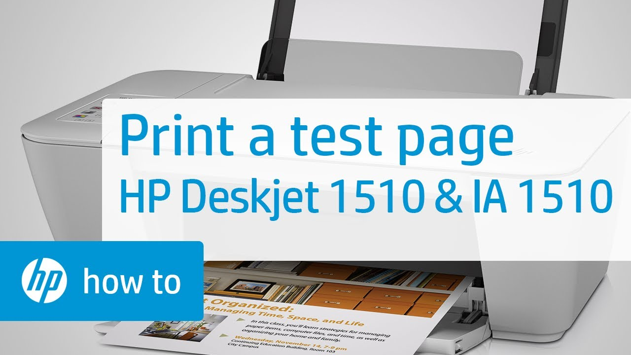 Printing A Test Page On The Hp Deskjet 1510 Amp Deskjet Ink