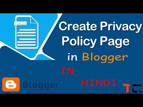 How To Create Privacy Policy Page For Blogger (Very Simple)