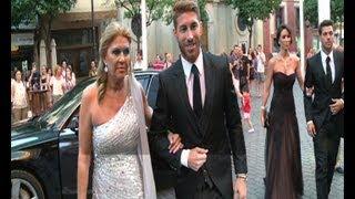 Sergio Ramos, en la boda de su hermana Miriam