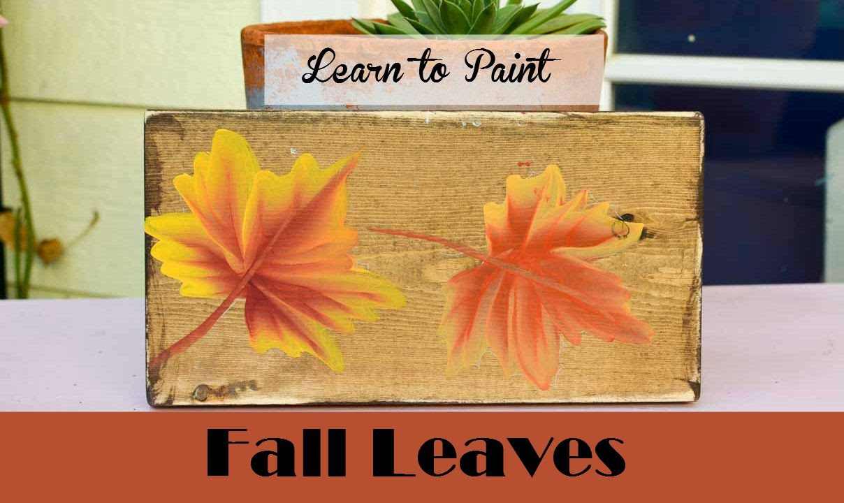 Learn how to paint fall leaves youtube for How to learn to paint