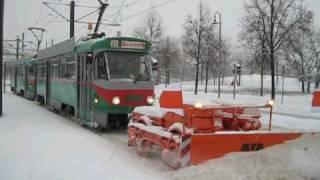 Tatra-Schneeräumkommando in Magdeburg - Januar 2010 - Teil 1