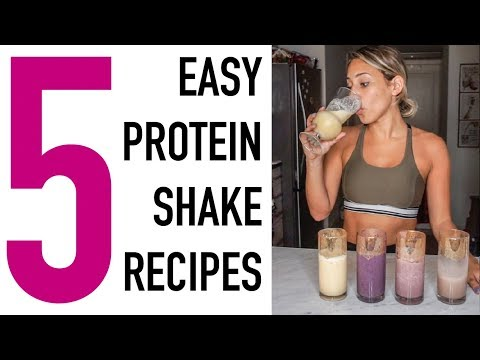 5 EASY RECIPES For YUMMY Protein Shakes (MUST TRY) | Vicky Justiz