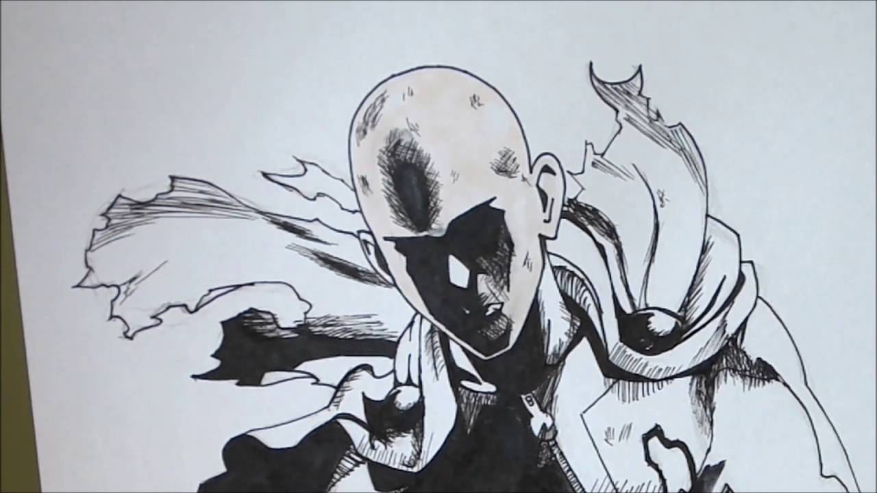 One Punch Man How To Draw Saitama Comment Dessiner Saitama Youtube