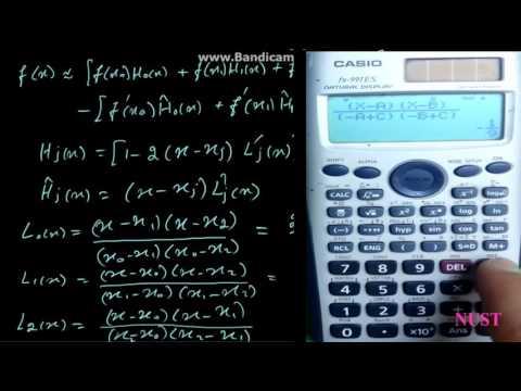 3.3-Hermite Interpolation (numerical analysis)