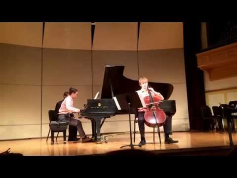 Ryan Andersen & James Osorio performing Brahms Sonata No. 1 for Cello & Piano, Op. 38: Mvmt. 1
