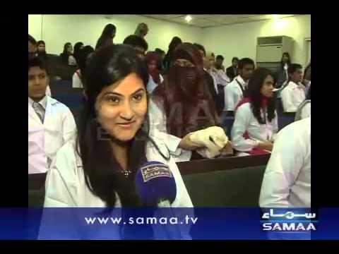 Dental College's White Coat Ceremony in Karachi.