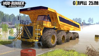 Spintires: MudRunner - Giant Mining Dump Truck Driving Through Flood In City