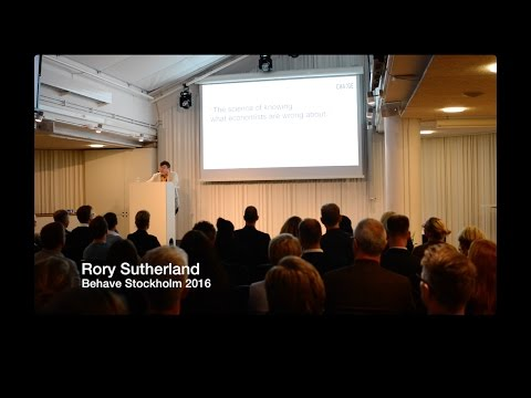 Behave Stockholm Launch: Rory Sutherland 2016