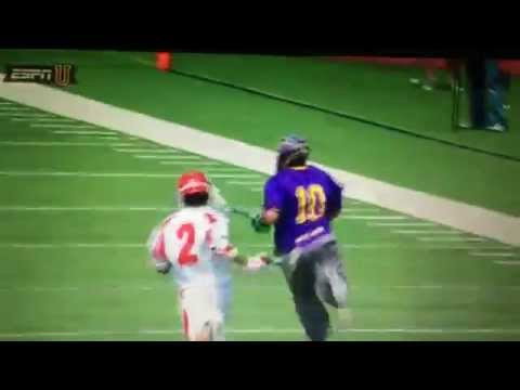 NCAA Albany Lacrosse Goalie Scores against Cornell Sports Center Top 10
