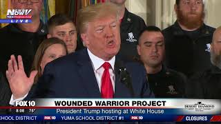 VERY MOVING President Trump Hosts Wounded Warrior Project - AMERICAN HEROES FNN