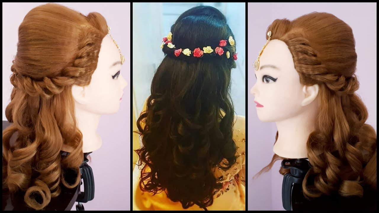 wedding hairstyle || asian wedding hairstyles || easy wedding hairstyle || curly hairstyles