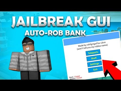 ✅ ROBLOX ✅ - JAILBREAK GUI (Working) AUTO-ROB BANK, TRACERS