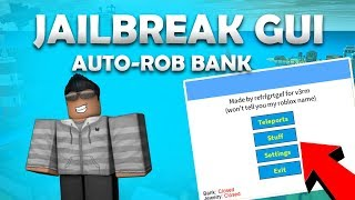 ✅ ROBLOX ✅ - JAILBREAK GUI (Working) AUTO-ROB BANK, TRACERS, BTOOLS AND MUCH MORE! (27 Dec)