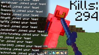 Minecraft UHC but if you ELIMINATE a player, they join your TEAM.