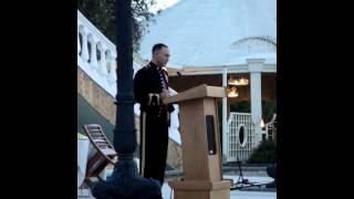 Corpsman Ball USNH NAPLES 2011 - Brigadier General Love