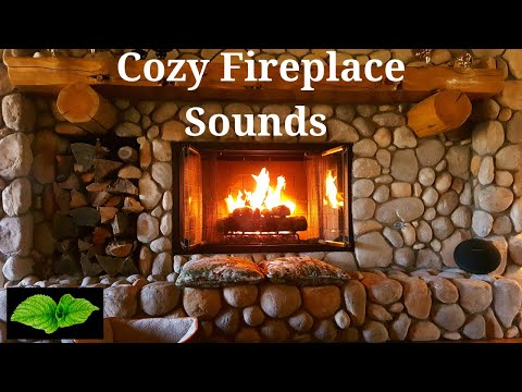 Relaxing Fireplace Sounds - Burning Fireplace Crackling Fire Sounds (No Music)