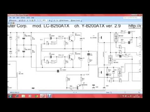 Desktop SMPS Circuit Diagram;SMPS Repair part4(telugu
