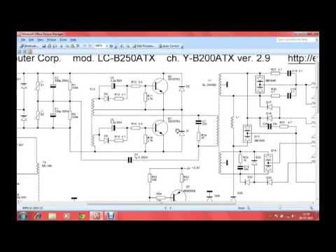 Desktop SMPS Circuit Diagram;SMPS Repair part4(telugu
