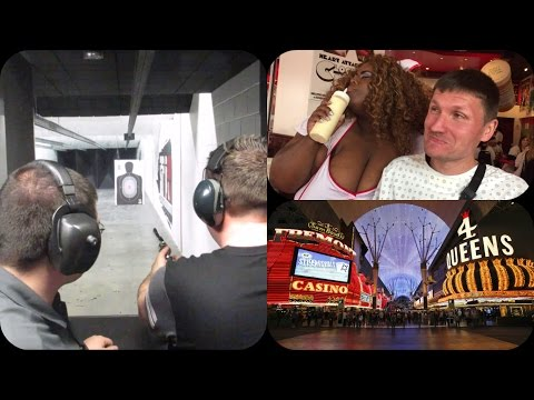 Las Vegas Vlog / Day 6 / Shooting Guns ,Spankings & Fremont Street
