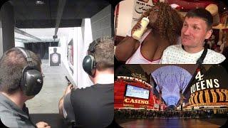 Las Vegas Vlog / Day 6 / Shooting Guns ,Spankings & Fremont Street
