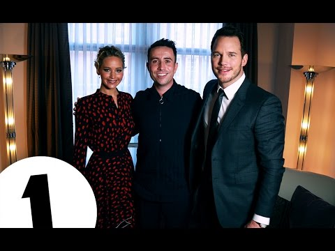 Jennifer Lawrence & Chris Pratt with Nick Grimshaw