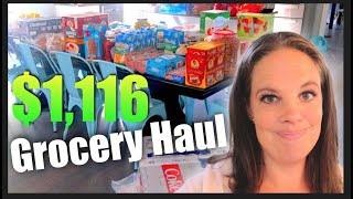 Grocery Haul OCTOBER!  One Month of Food for a Large Family