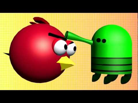 DOODLE JUMP with the Angry Birds ♫ 3D animated  game mashup ☺ FunVideoTV - Style ;-))