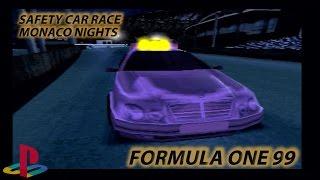 Formula One 99 | Safety Car Race | Monaco Nights | Cheats | PlayStation/PS1/PSX HD