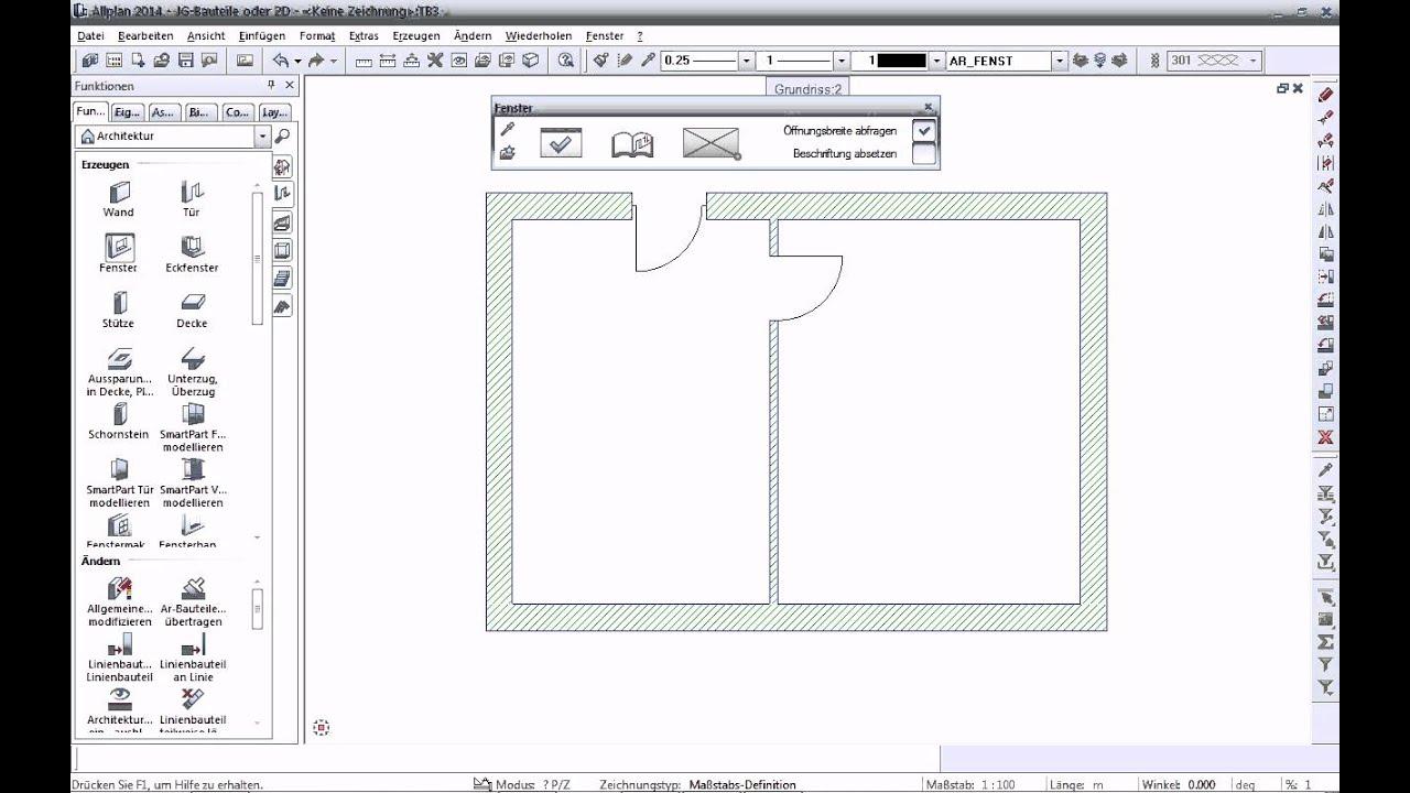 Grundriss Mit Bauteilen Erstellen