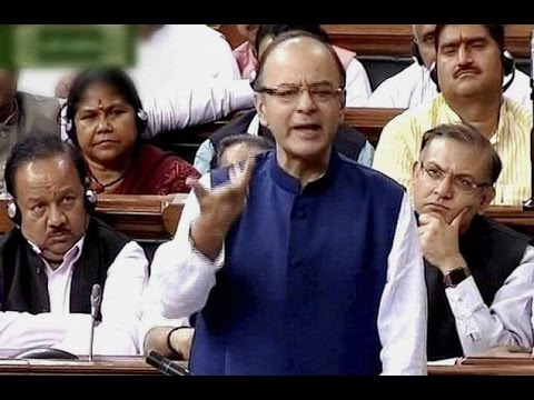FM Arun Jaitley Attacks Rahul Gandhi - Full Speech